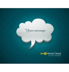 Cloud bubble icon for message vector image vector image