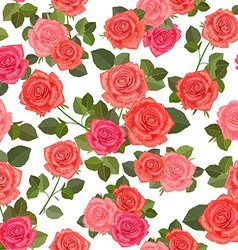 colorful seamless texture with bouquets of roses vector image vector image