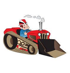 Construction worker driving a loader vector