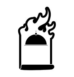 Contour order fast food emblem image vector