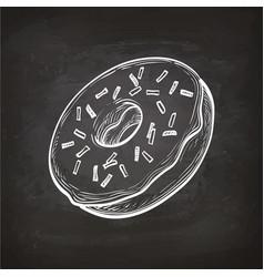 donut sketch on chalkboard vector image