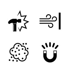 External influence simple related icons vector