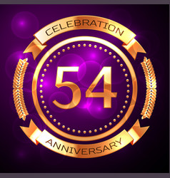 Fifty four years anniversary celebration with vector