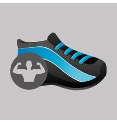 Fitness silhouette sneaker gym graphic vector