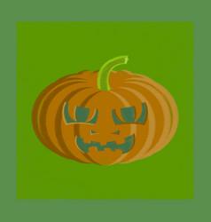 flat shading style icon halloween pumpkin emotions vector image vector image