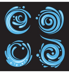 four water icons vector image vector image