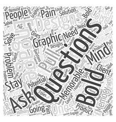 graphic designs Word Cloud Concept vector image