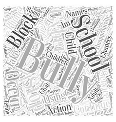 How to stop cyber bullying word cloud concept vector