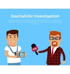 Journalistic investigation concept vector