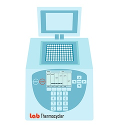 lab pcr thermal cycler vector image vector image