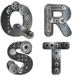 mechanical alphabet vector image
