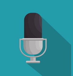 microphone retro isolated icon vector image vector image
