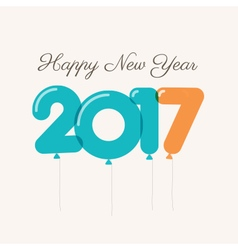 New year 2017 ballons vector