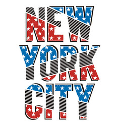 new york city stars vector image
