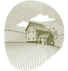 old mill vector image