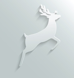 paper reindeer vector image