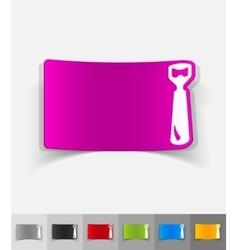 realistic design element opener vector image vector image