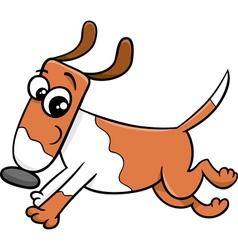 Running dog cartoon vector