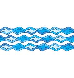 seamless sea border vector image vector image