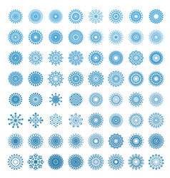 snowflakes in white background vector image vector image