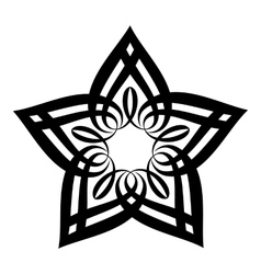 Star petal icon simple style vector