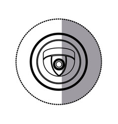 sticker of monochrome contour of video security vector image