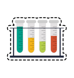 Test tube science icon image vector