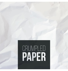 Texture of white crumpled paper background vector