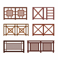 various fences on the white vector image vector image