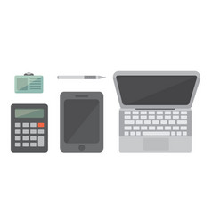 workplace with mobile devices and documents vector image vector image