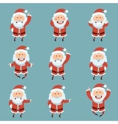 Set of Santa Claus Flat icons vector image