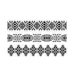 Black ethnic ornamental set vector image