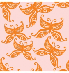 Butterflies seamless background vector