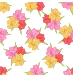 Abstract elegance seamless flower pattern with vector