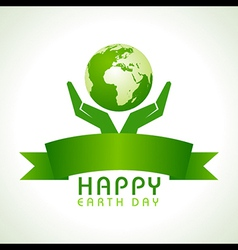 Creative happy earth day greeting vector
