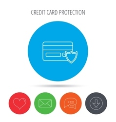 Protection credit card icon Shopping sign vector image