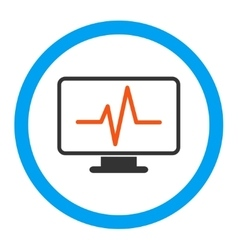 Monitoring Rounded Icon vector image