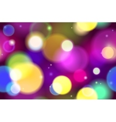 Blurred bokeh lights background vector