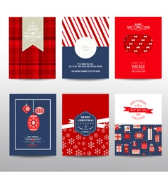 Set of christmas brochures and cards vector