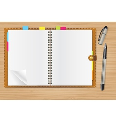 Writing pad vector
