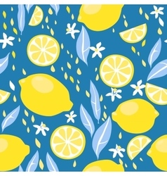 Lemons seamless pattern vector