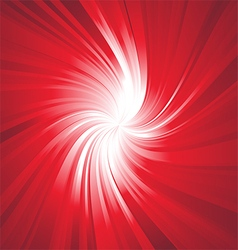Ray lights explosion background with red colors vector
