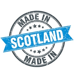 Made in scotland blue round vintage stamp vector