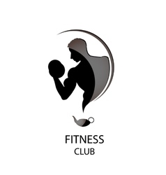 Fitness club black icon vector