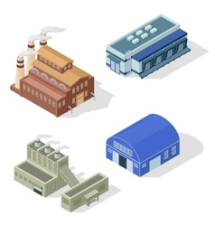 Isometric factory set vector