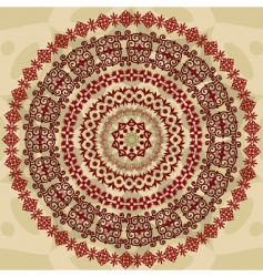 abstract circular pattern of arabesques vector image