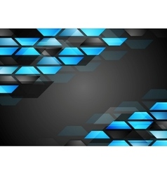 Abstract dark technology corporate background vector image vector image