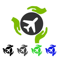 Aviation care flat icon vector