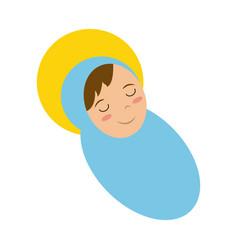 Baby jesus cartoon vector