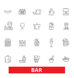 bar cafe beer pub drinking eating restaurant vector image